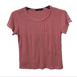 Brandy Melville Striped Ribbed T Shirt